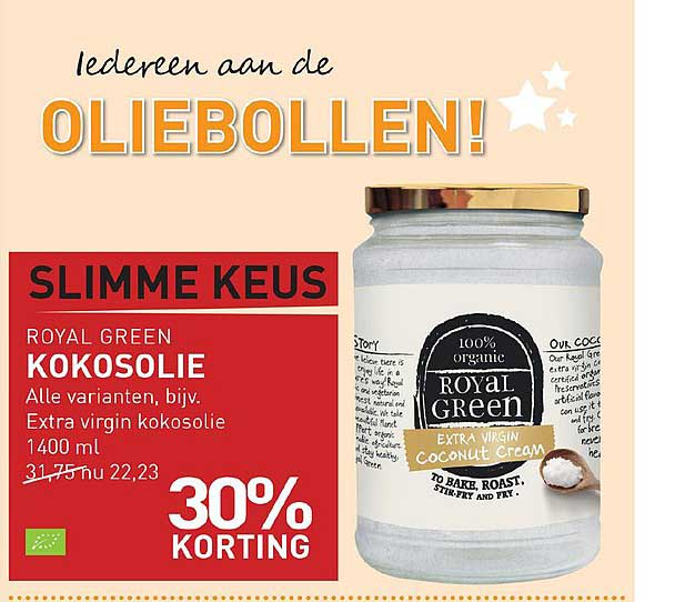 Natuurwinkel Royal Green Kokosolie: 30% Korting
