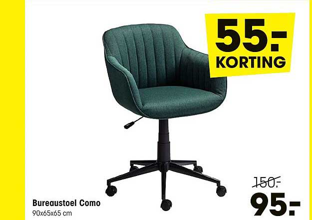 Kwantum Bureaustoel Como 55.- Korting