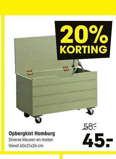 Kwantum Opbergkist Hamburg 20% Korting