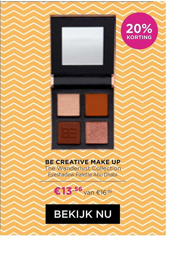 ICI PARIS XL Be Creative Make Up The Wanderlust Collection Eyeshadow Palette Abu Dhabi 20% Korting