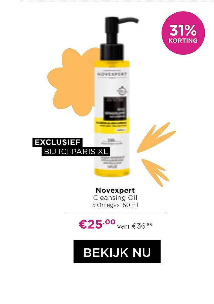 ICI PARIS XL Novexpert Cleansing Oil 5 Omegas 150 Ml 31% Korting