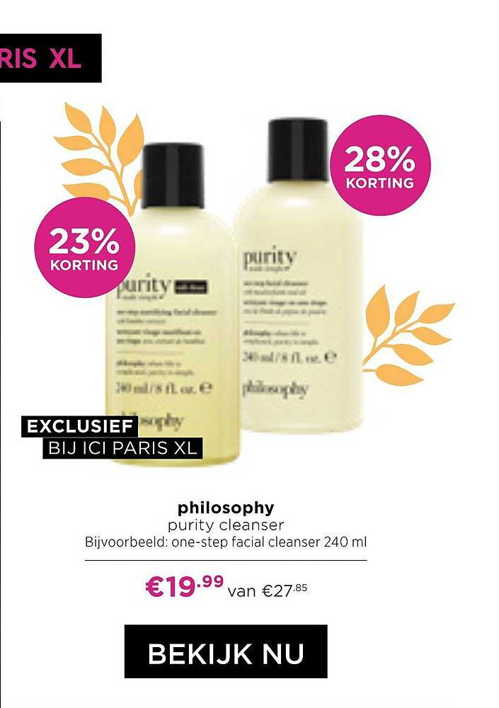 ICI PARIS XL Philosophy Purity Cleanser 23% - 28% Korting