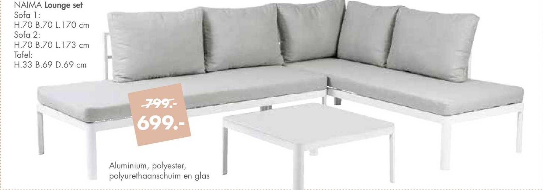 CASA Naima Lounge Set : Sofa Of Tafel
