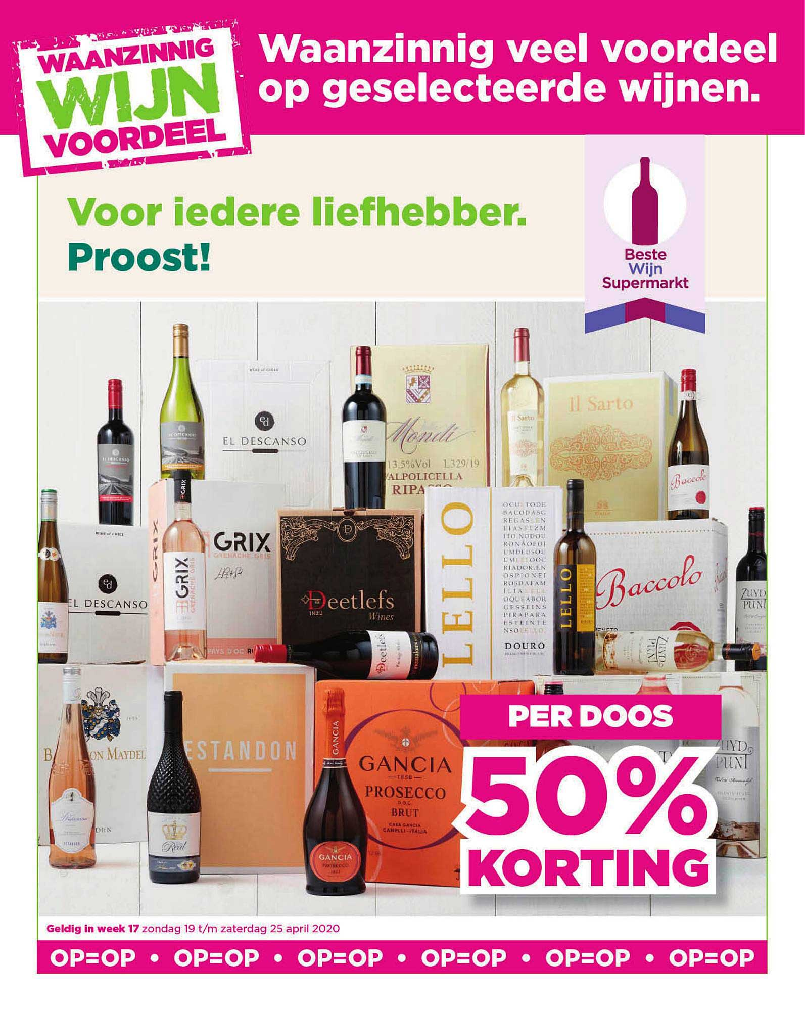 PLUS Waanzinnig Wijn Voordeel: Per Doos 50% Korting