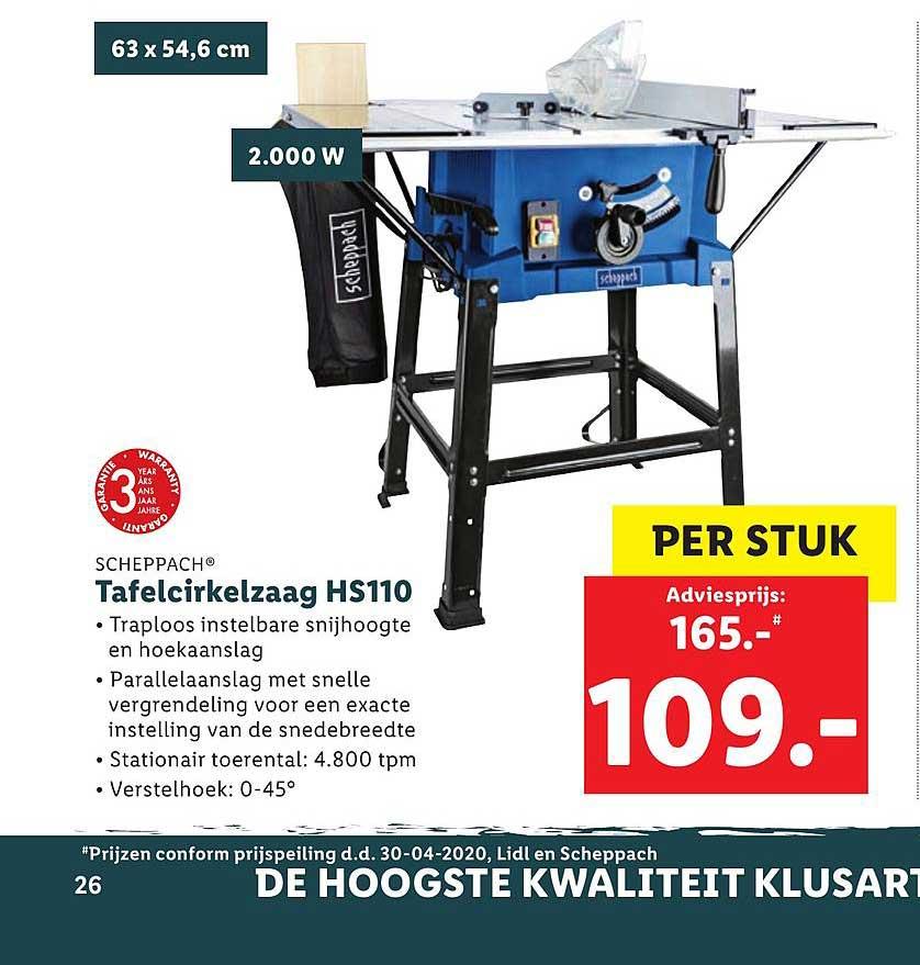 Lidl Tafelcirkelzaag HS110