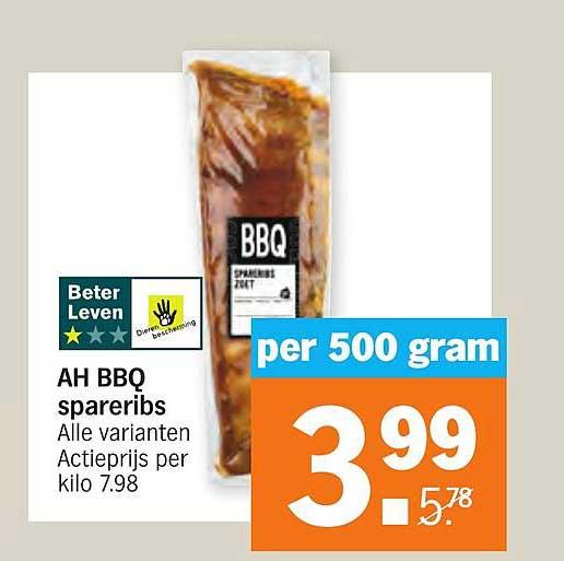 Albert Heijn AH BBQ Spareribs