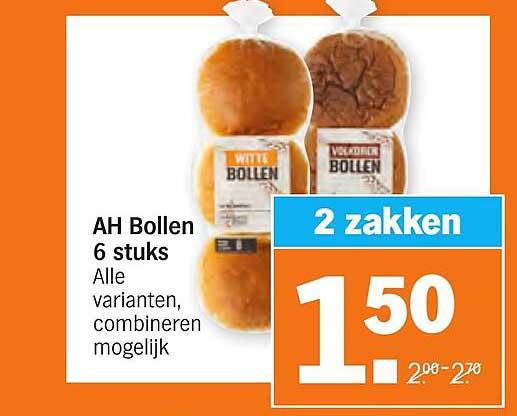 Albert Heijn AH Bollen 6 Stuks