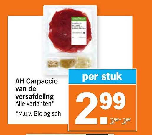 Albert Heijn AH Carpaccio Van De Versafdeling