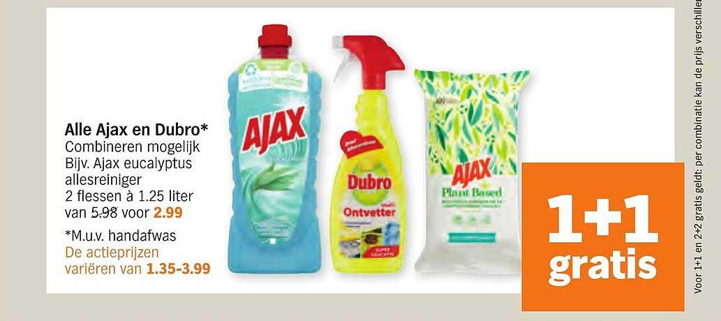 Albert Heijn Alle Ajax En Dubro 1+1 Gratis