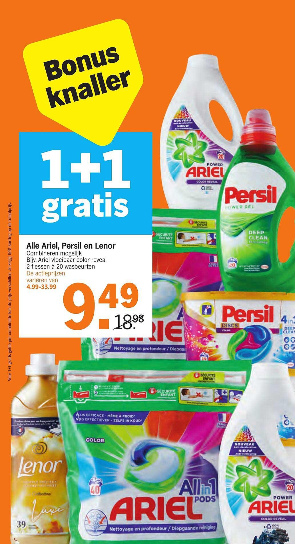 Albert Heijn Alle Ariel, Persil En Lenor 1+1 Gratis