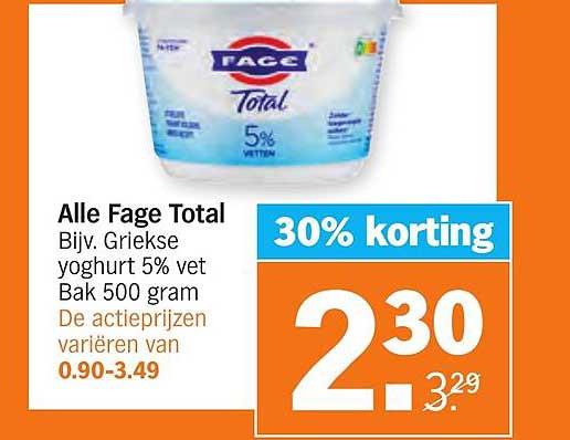 Albert Heijn Alle Fage Total 30% Korting