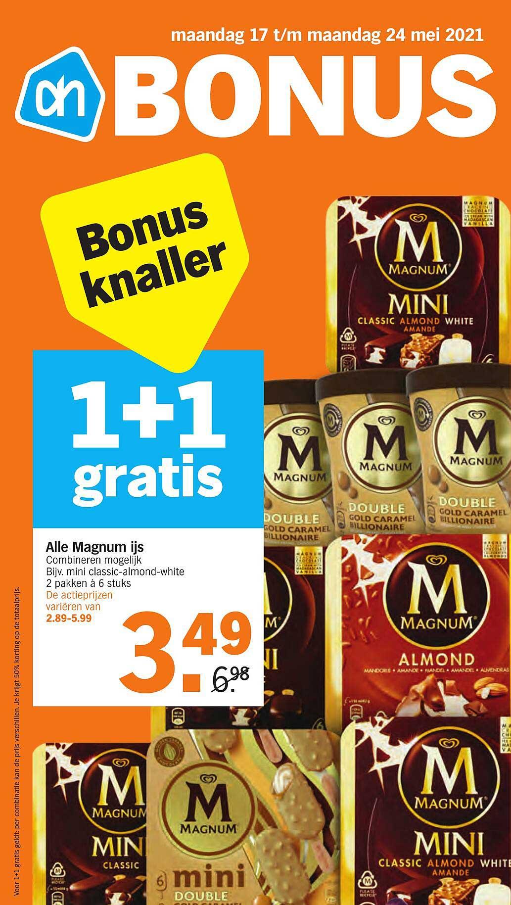 Albert Heijn Alle Magnum Ijs 1+1 Gratis