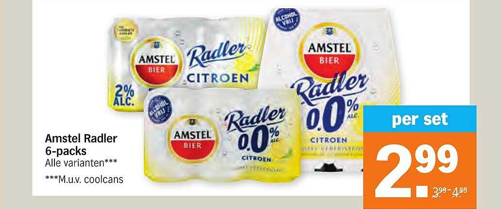 Albert Heijn Amstel Radler 6-Packs