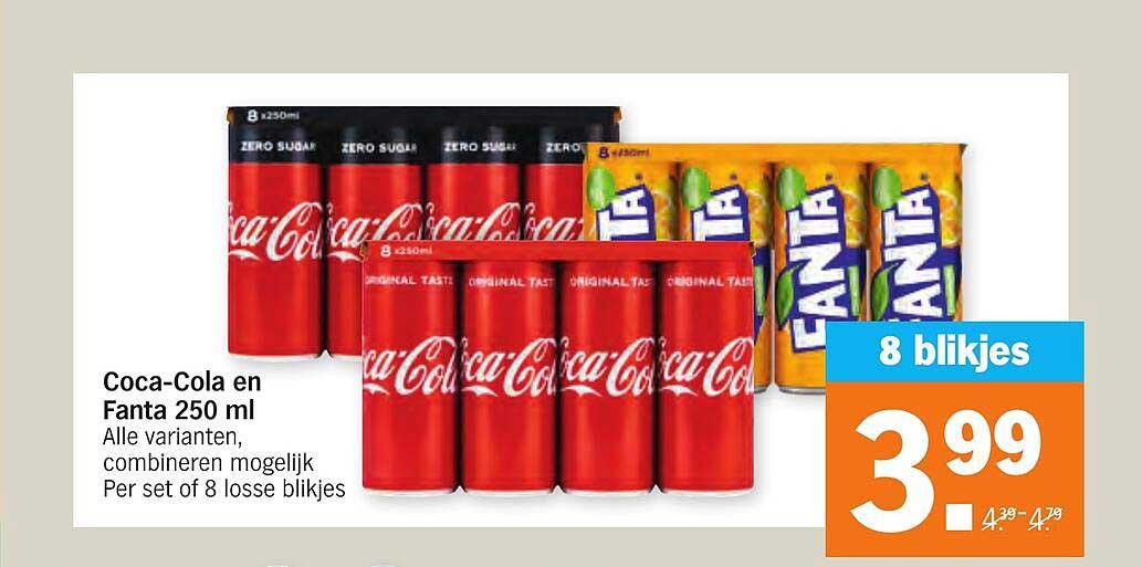 Albert Heijn Coca-Cola En Fanta 250 Ml