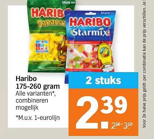 Albert Heijn Haribo 175-260 Gram