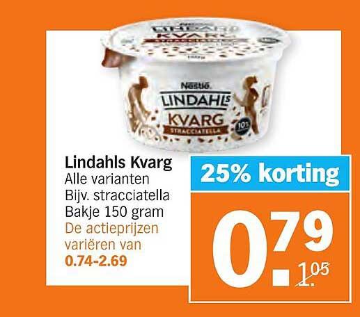 Albert Heijn Lindahls Kvarg 25% Korting