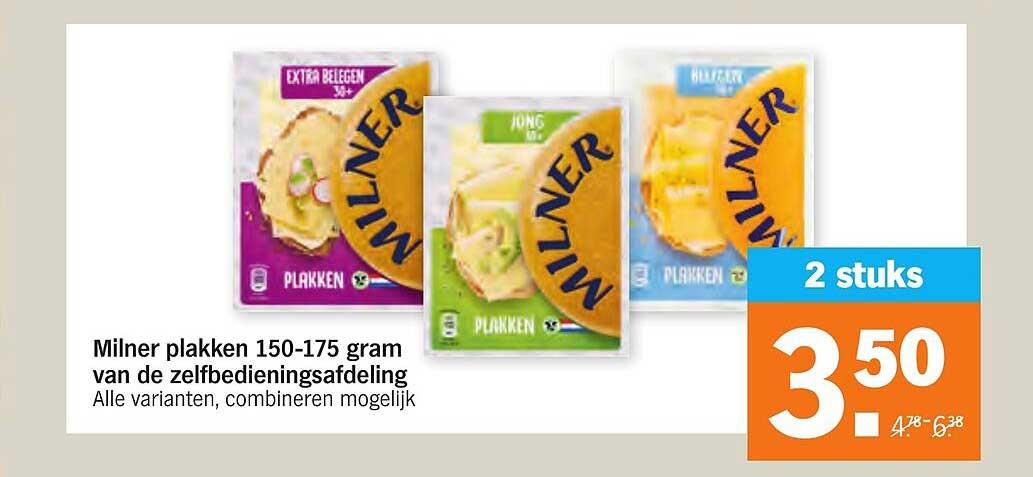 Albert Heijn Milner Plakken 150-175 Gram Van De Zelfbedieningsafdeling