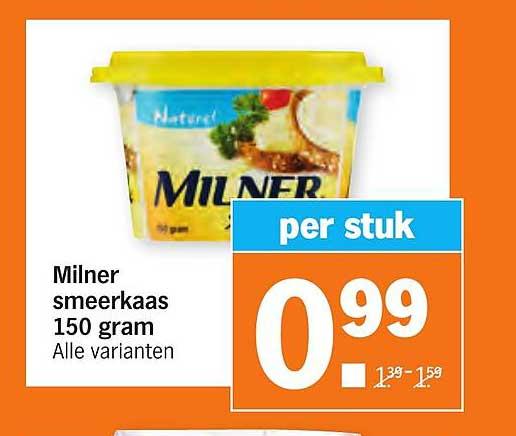 Albert Heijn Milner Smeerkaas 150 Gram