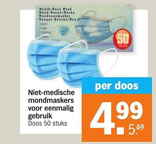 Albert Heijn Niet-Medische Mondmaskers Voor Eenmalig Gebruik