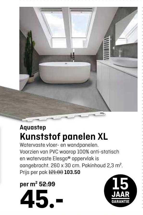 Hubo Aquastep Kunststof Panelen Xl