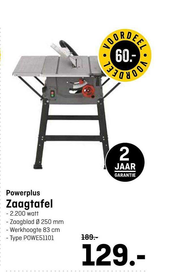 Hubo Powerplus Zaagtafel