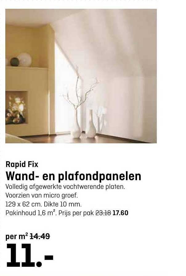 Hubo Rapid Fix Wand- En Plafondpanelen