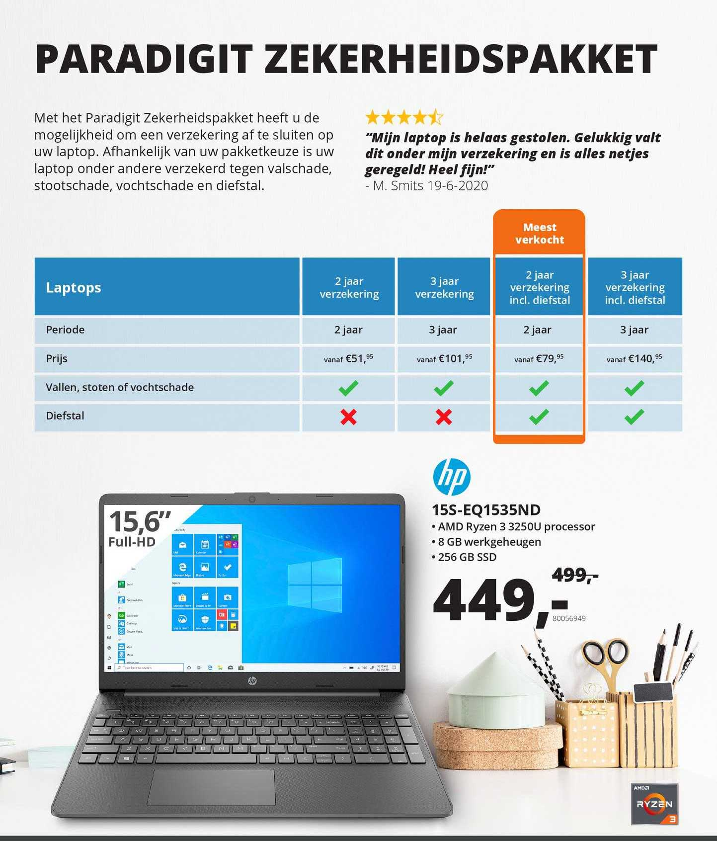 Paradigit HP 15S-EQ1535ND Laptop