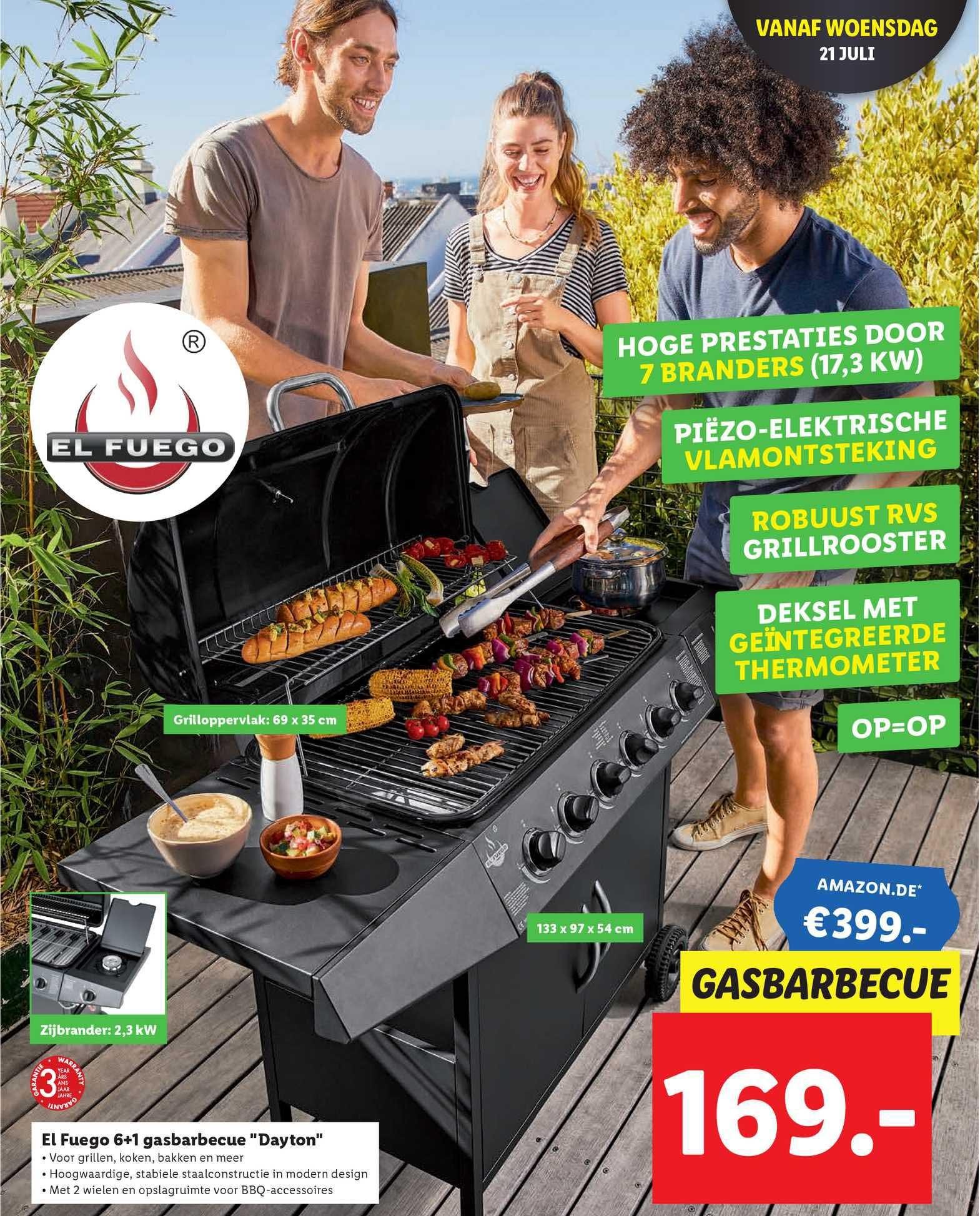 Lidl El Fuego 6+1 Gasbarbecue