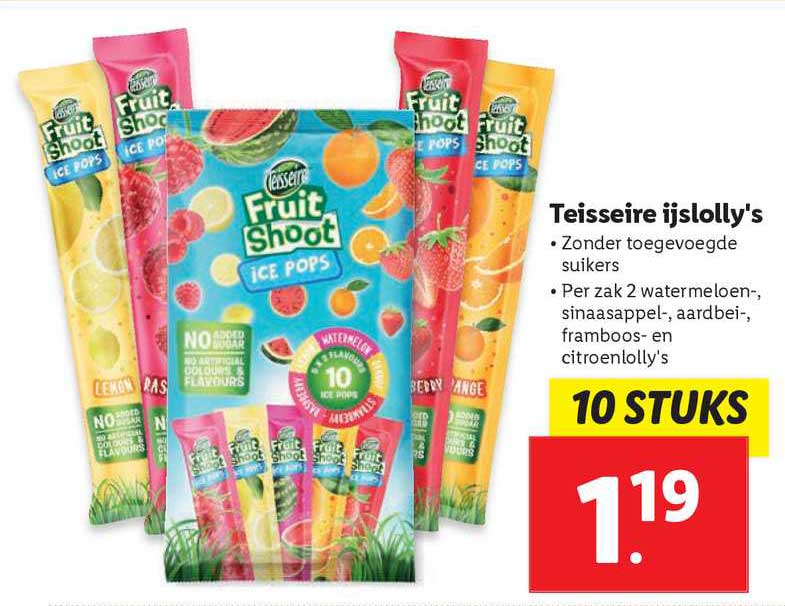 Lidl Teisseire Ijslolly's