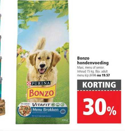 Welkoop Bonzo Hondenvoeding: 30% Korting