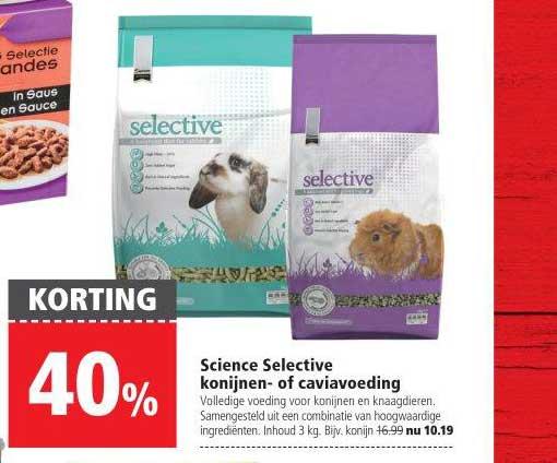 Welkoop Science Selective Konijnen Of Caviavoeding: 40% Korting