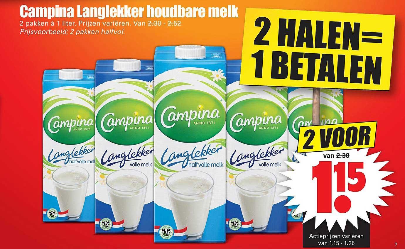 Dirk Campina Langlekker Houdbare Melk