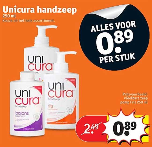 Kruidvat Unicura Handzeep: Alles Voor €0,89 Per Stuk