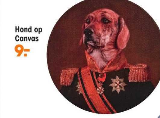 Kwantum Hond Op Canvas
