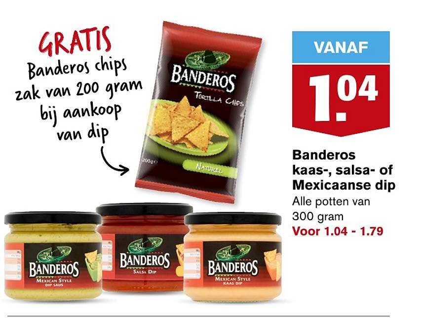 Hoogvliet Banderos Kaas-, Salsa- Of Mexicaanse Dip