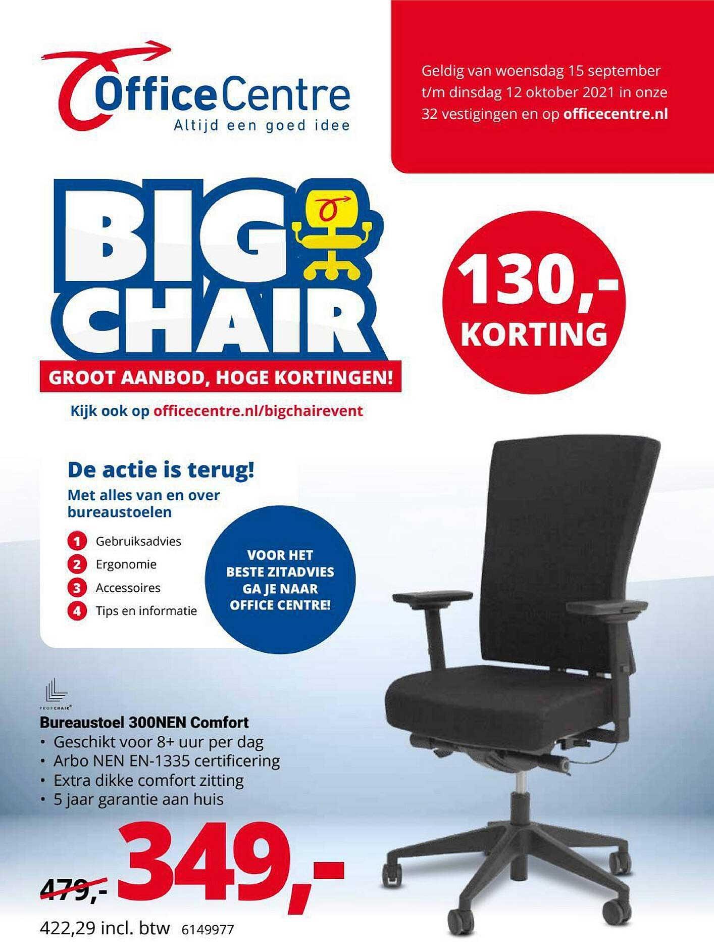 Office Centre Bureaustoel 300NEN Comfort 130,- Korting