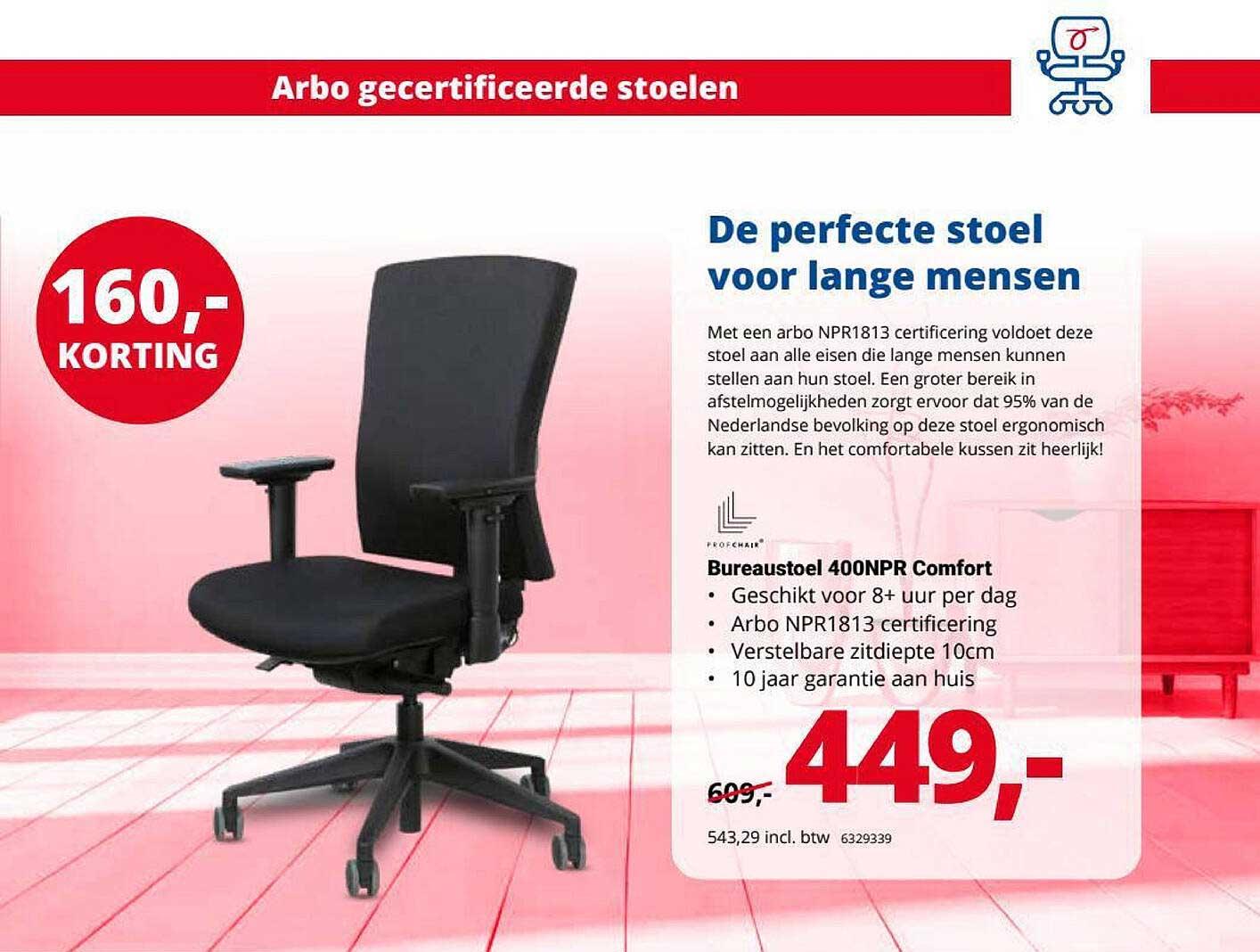 Office Centre Bureaustoel 400NPR Comfort 160,- Korting