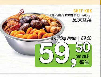 Amazing Oriental Chef Kok Diepvries Poon Choi Pakket