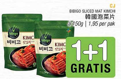 Amazing Oriental CJ Bibigo Sliced Mat Kimchi 1+1 Gratis