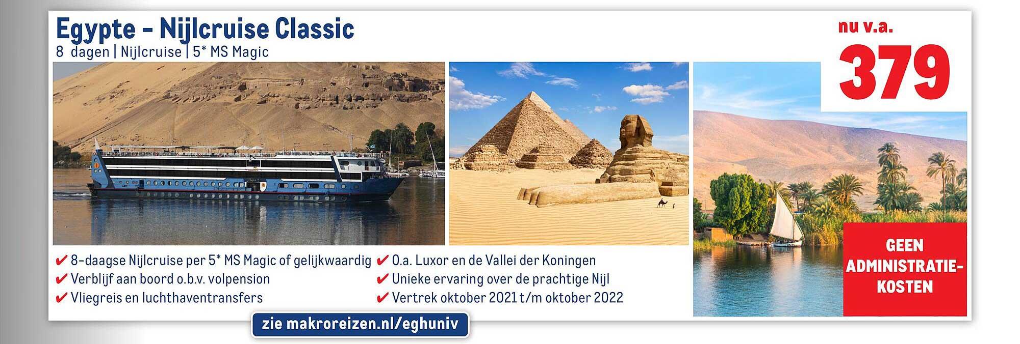 Makro Reizen Egypte - Nijlcruise Classic