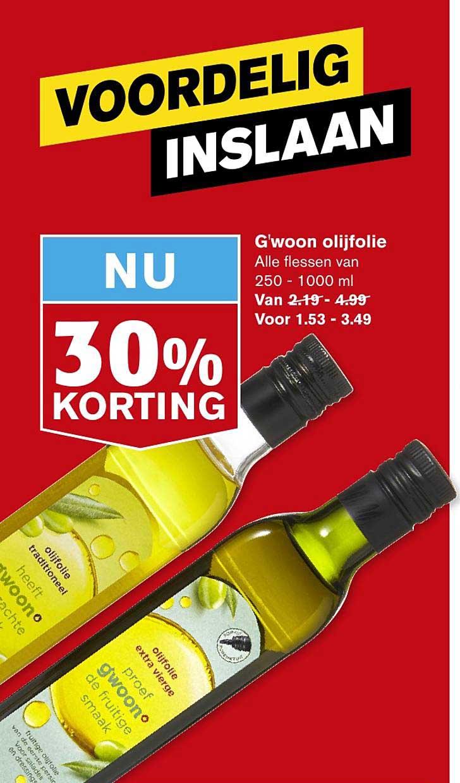 Hoogvliet G'woon Olifolie 30% Korting