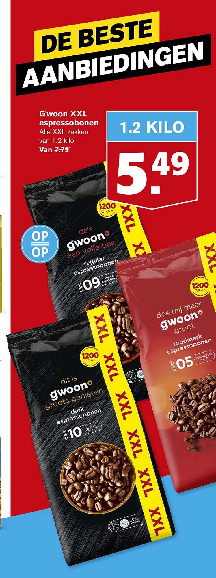Hoogvliet G'woon XL Espressobonen