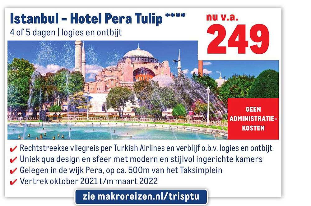 Makro Reizen Istanbul - Hotel Pera Tulip