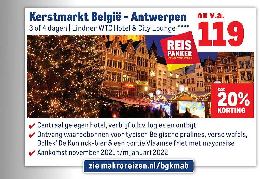 Makro Reizen Kerstmarkt België - Antwerpen Tot 20% Korting