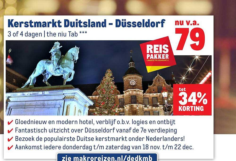Makro Reizen Kerstmarkt Duitsland - Düsseldorf Tot 34% Korting