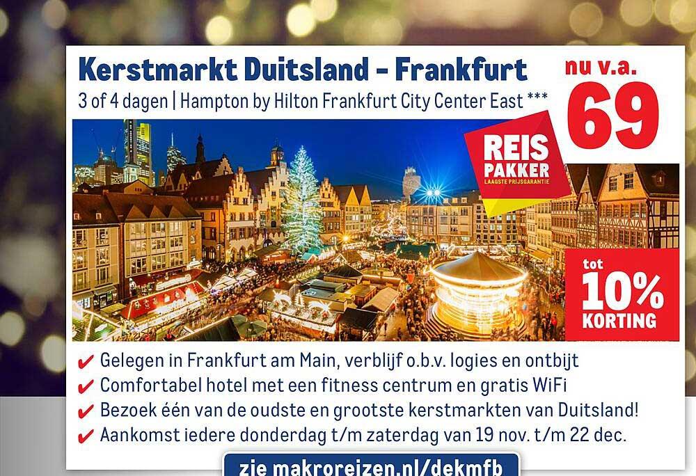 Makro Reizen Kerstmarkt Duitsland - Frankfurt Tot 10% Korting