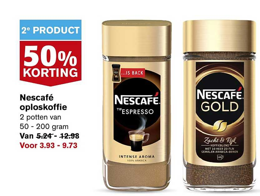 Hoogvliet Nescafé Oploskofiie 50% Korting