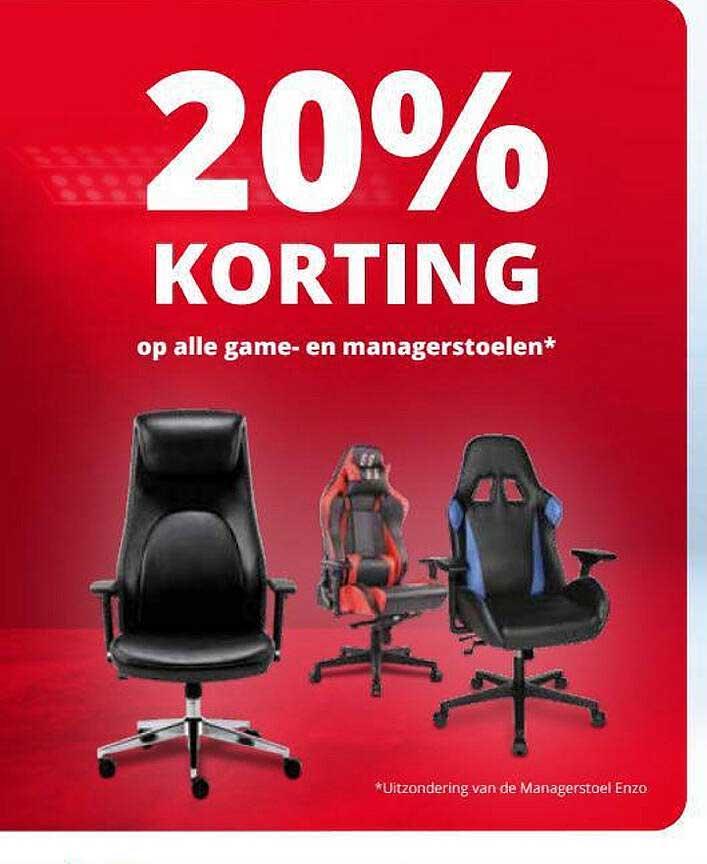 Office Centre Op Alle Game- En Managerstoelen 20% Korting