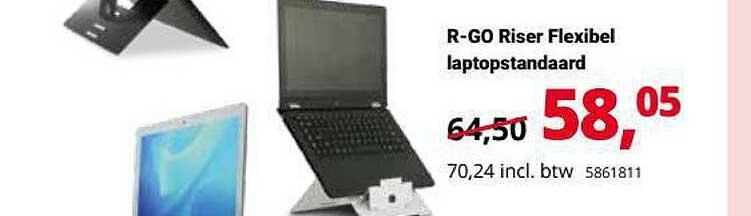 Office Centre R-Go Riser Flexibel Laptopstandaard
