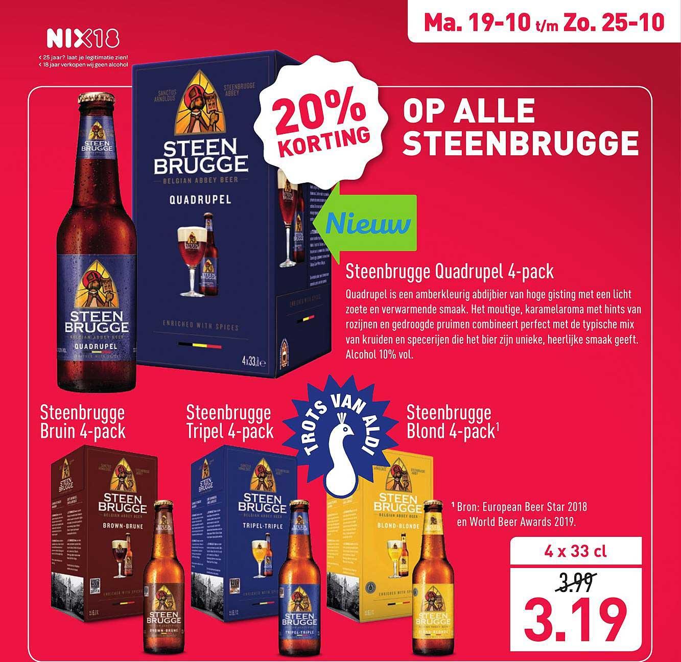 ALDI Steenbrugge Quadrupel 4-Pack 20% Korting
